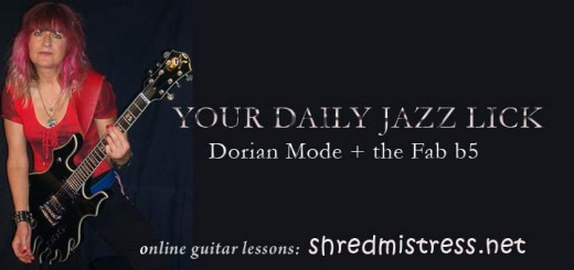 Dorian Mode in Thirds for Guitar