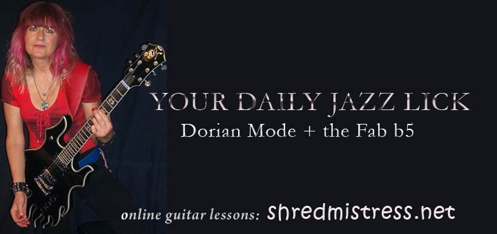 Dorian Mode in Thirds for Guitar