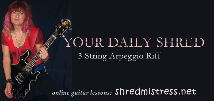 Guitar Arpeggios Shred Riff 3 Strings