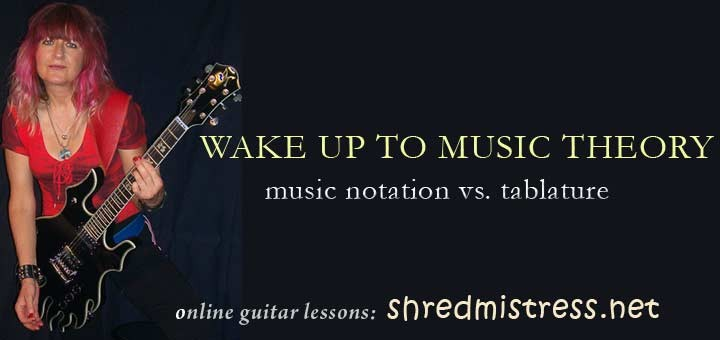 Music Notation vs. Guitar Tablature