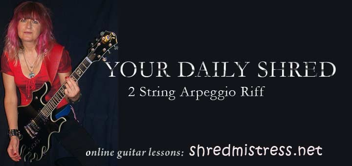 Guitar Arpeggio 2 Strings for Shred Guitar
